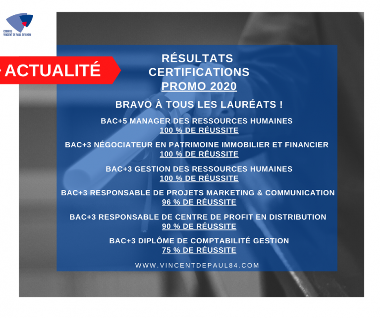 Résultats certifications alternants CFC